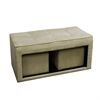 "16.5""H Storage Ottoman + 2 Hidden Seating"