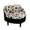 "22""H Leopard Heart Accent Chair W/ 2 Pillows"