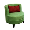 "30.5""H Green Accent Chair W/ Pillow"