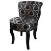 "31""H French Black/Grey Damask Accent Chair"