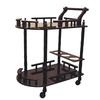 Ore International Cherry 2-Tier Wine Table