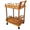 Ore International Oak 2-Tier Wine Table