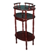 Ore International Cherry 3-Tier Phone Table
