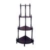 Ore International Cherry 4-Tier Corner Stand