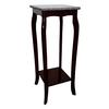 Ore International Cherry Phone Table With Marble Top
