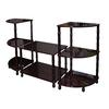 Ore International 3-Tier Accent Table Set - Cherry