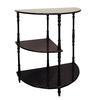 Ore International Cherry 3-Tier Half Table