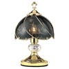 "Ore International 14.25"" Touch-On Table Lamp - Floral"