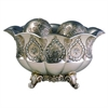 "Ore International 7""H Traditional Royal Silver And Gold Metalic Decorative Bowl With Spheres"