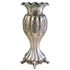 "15.75""H Traditional Royal Silver And Gold Metalic Decorative Vase"
