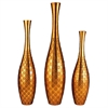 "Ore International 22.5""/25""/30""H Gold Polkadot Vase Set, Set of 3"
