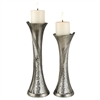 "14/16""H Silver Decorative Candleholder Set, Set of 2"