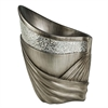 "14""H Silver Decorative Vase"