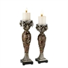"14/16"" H Chinoiserie Candleholder Set, Set of 2"