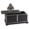 "Ore International 11""H Sobek Dark Espresso Decorative Box"