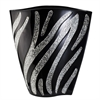 "14""H Zebra Decorative Vase"