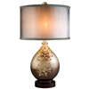 "Ore International 30"" Sapphire Rose Table Lamp"