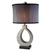 Ore International 30.5''H Silver Twilight Table Lamp