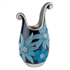 14''H Aqua Demeter Decorative Vase