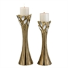 "Ore International 14""/16""H Gaia Candleholder Set Without Candles, Set of 2"