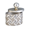 "9.5""H Silver Dazzle Jewelry Box"