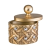"Ore International 9""H Gold Mahla Jewelry Box"
