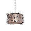 "Ore International 12""H Silver Crystal Ceiling Lamp"