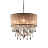 "Ore International 25""H Rosie Crystal Ceiling Lamp"