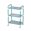 Ore International Light Blue 3 Tier Utility Cart