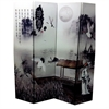 "Ore International 4 Panel ""Poet's Dream"" Chinese Painting Room Divider"
