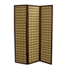 "Ore International 70.25""H Two Tone Bamboo 3 Panel Room Divider - Walnut"
