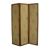 "Ore International 70.25""H Floral Bamboo 3 Panel Room Divider - Honey"
