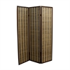 "Ore International 70.25""H Bamboo 3-Panel Room Divider - Dark Walnut"