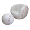 Baseball Chair & Ottoman Set