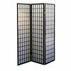 Ore International 3-Panel Room Divider - Black