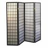 Ore International 4-Panel Room Divider - Black