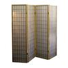 Ore International 4-Panel Room Divider - Natural