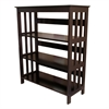 "Ore International 36"" 3-Tier Bookcase - Espresso"