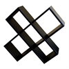 Crisscross Media Wall Storage - Black