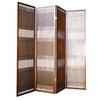 4-Panel Wooden Room Divider - Walnut