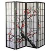 Ore International 4-Panel Room Divider - Plum Blossom