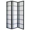 Ore International Girard 3-Panel Room Divider - Black