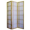 Ore International Girard 3-Panel Room Divider - Natural