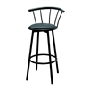 "Set of 2 Swivel Barstools - Black (29""), Set of 2"