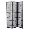 Ore International 3 Panel Shoji Screen - Black