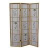 Ore International 3 Panel Shoji Screen - Natural