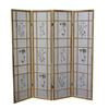 Ore International 4 Panel Shoji Screen - Natural