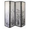 Ore International 4-Panel Room Divider - Floral