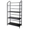 4 Tier Metal Book Shelf - Black