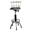 Ore International Adj-Height Swivel Barstool - Chrome